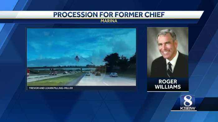 Police procession honors former Marina police chief