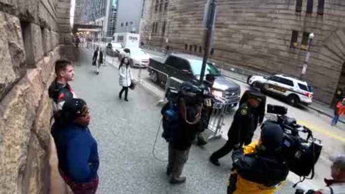 Web Extra: Antwon Rose's Mother Arrives At The Allegheny Co. Courthouse