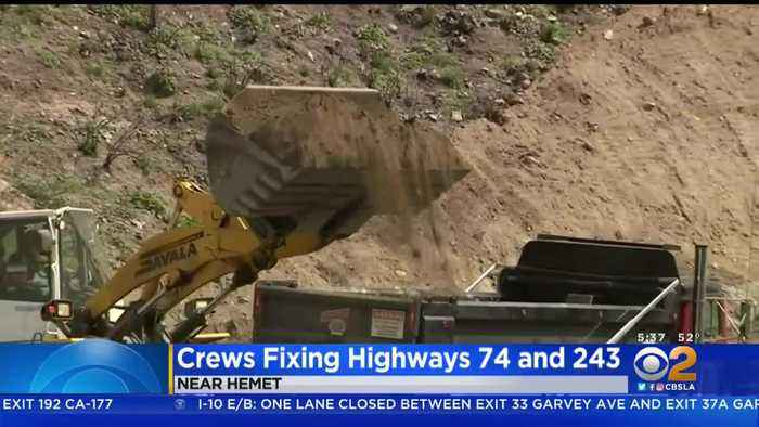Caltrans Crews Working In 12-Hour Shifts To Repair Storm-Damaged Roads