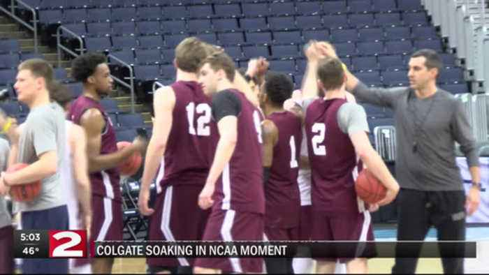 Colgate ready to 'raid' bigger arena in NCAA tourney game