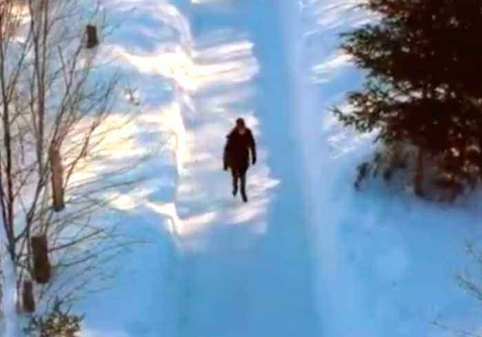 Couple Skate Along Magical Quebec Forest Path