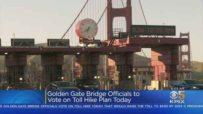 Golden Gate Bridge Officials Set To Vote On Toll Hike