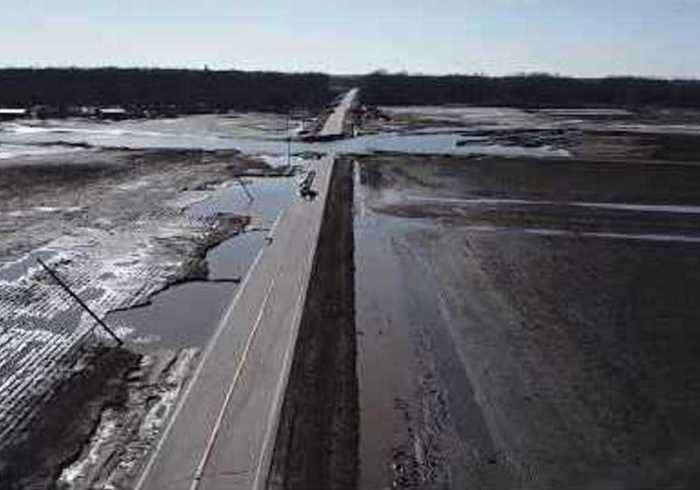 Highways Destroyed Following Flooding in Northeast Nebraska
