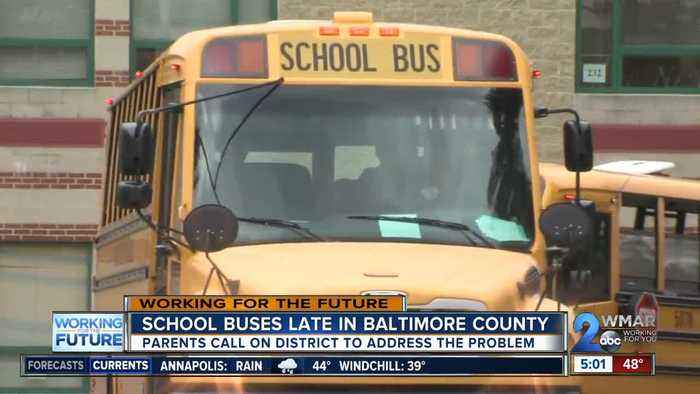 Parents call on district to address late school buses in Baltimore County