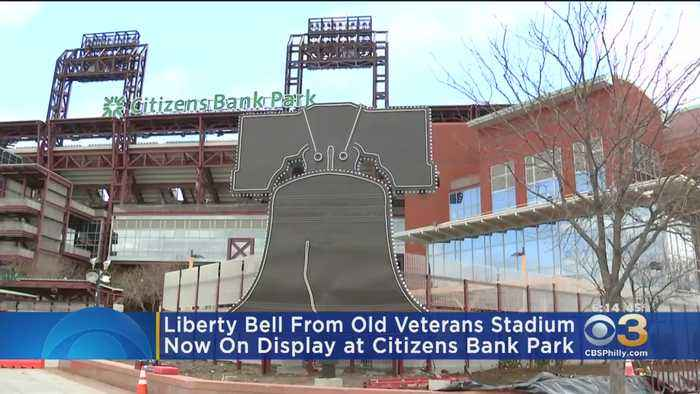 Replica Liberty Bell From Veterans Stadium Finds New Home At Citizens Bank Park