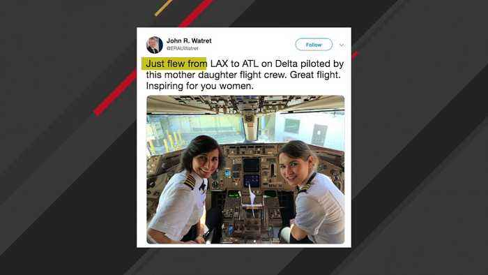 This Image Of Mother-Daughter Delta Flight Crew Is Going Viral