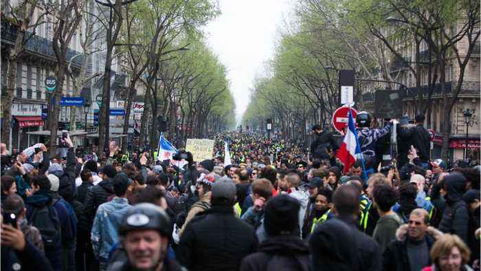 France Sees Yellow Vest Protests For 19th Straight Week