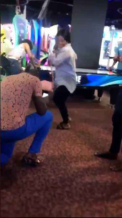 Man Proposes to Dancing High School Sweetheart in Arcade