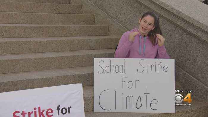 Teen Protests On Capitol Steps To Help Stop Climate Change
