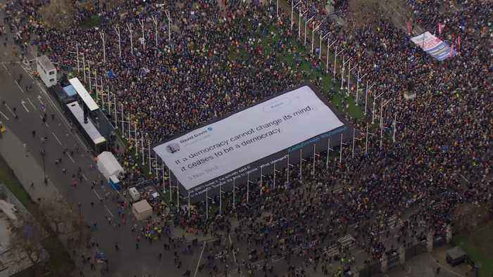 MPs speak at march for a second EU referendum
