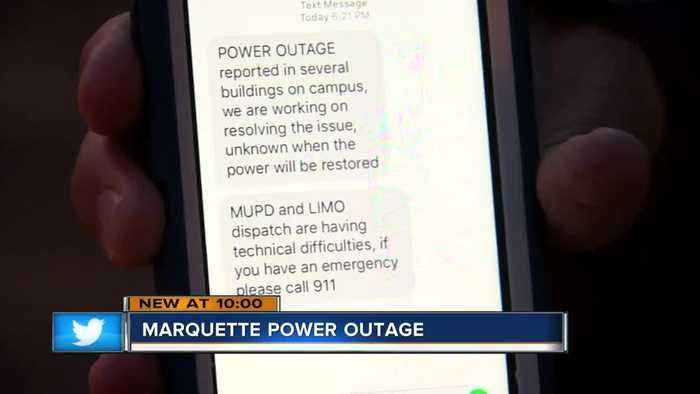 Power goes out on Marquette University for the second time this week