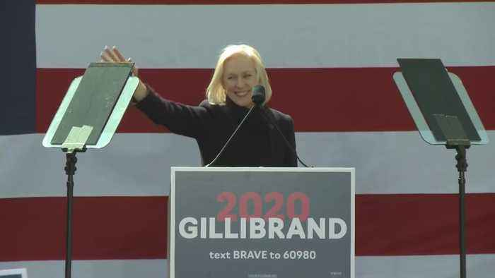 Web Extra: Sen. Kirsten Gillibrand Rallies Presidential Campaign Kick-Off In NYC