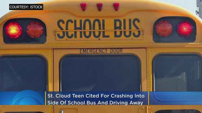 St. Cloud Teen Cited For Crashing Into Side Of School Bus, Driving Away