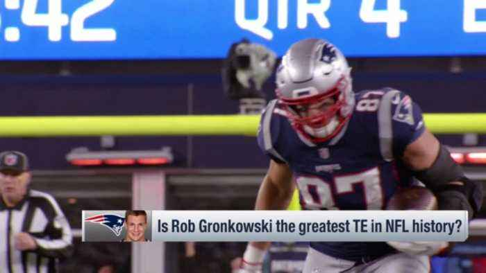 NFL Network's Jim Trotter: 'Pump the brakes' on New England Patriots tight end Rob Gronkowski's first-ballot Hall of Fame talks