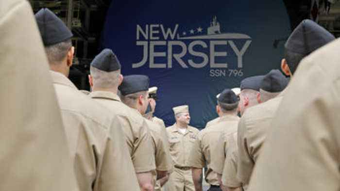 Keel Laying Ceremony for Submarine New Jersey