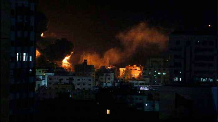 Israel Bombs Gaza After Rocket Attack In Tel Aviv
