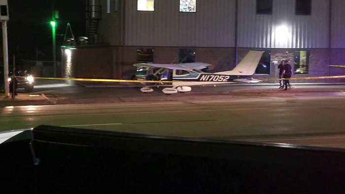 Small Plane Makes Emergency Landing in Heart of Oklahoma Town