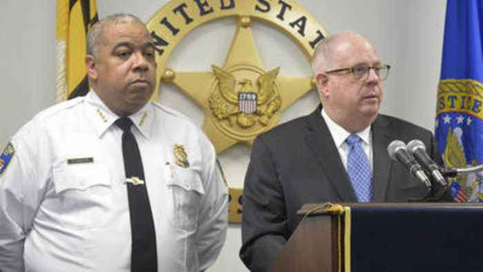 264 arrested in crackdown on violent fugitives in Baltimore, Hogan and U.S. Marshal announce