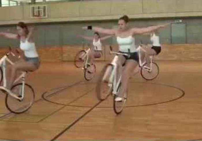 World Record Holders Take Part in 'Wheelie' Good Synchronized Spin