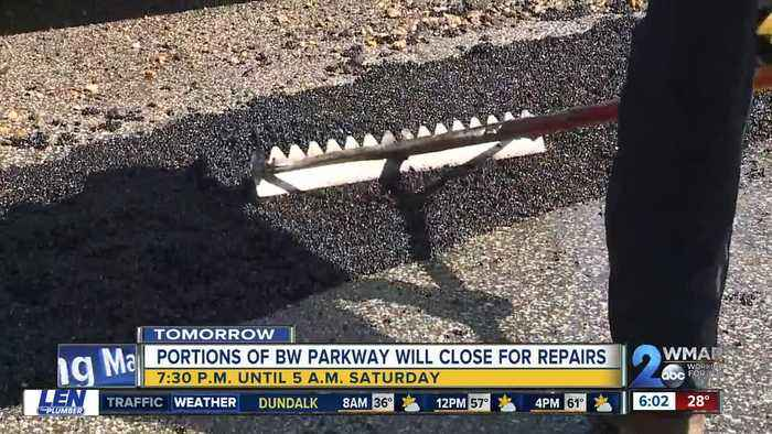 Repairs on Baltimore Washington Parkway expected to cause road closures