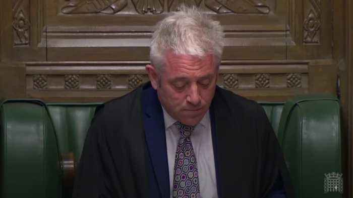 John Bercow rules that MPs can vote on Withdrawal Agreement