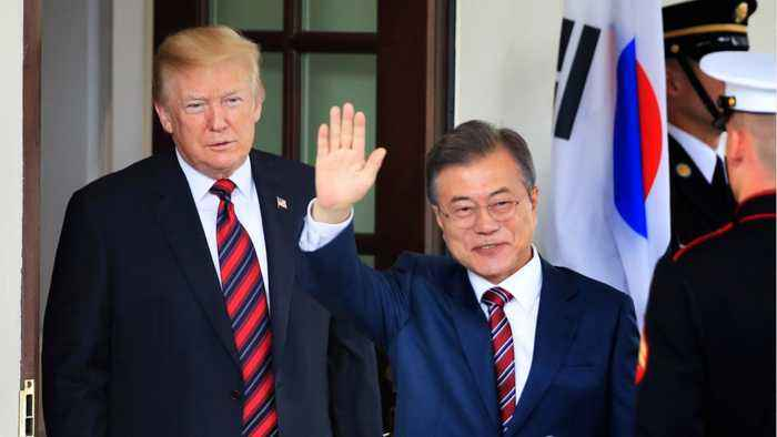 President Donald Trump Will Meet With South Korean President Moon Jae-in In April