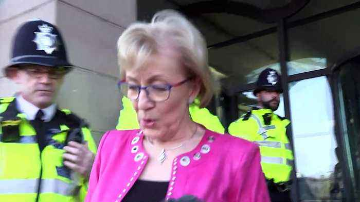 Leadsom 'disappointed' as MPs reject Brexit agreement