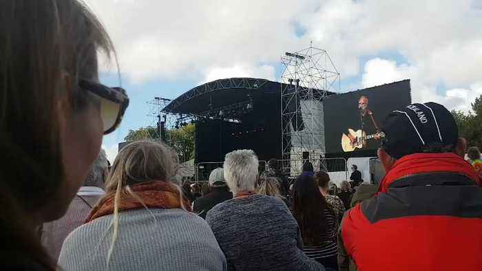 Yusuf Islam Performs 'Peace Train' at Christchurch Remembrance Service