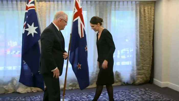 Australian PM attends national memorial service for shooting victims in New Zealand