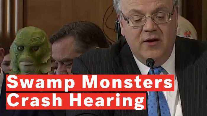 Greenpeace Activists Crash Congressional Hearing Dressed As Swamp Monsters To Protest Oil Ties