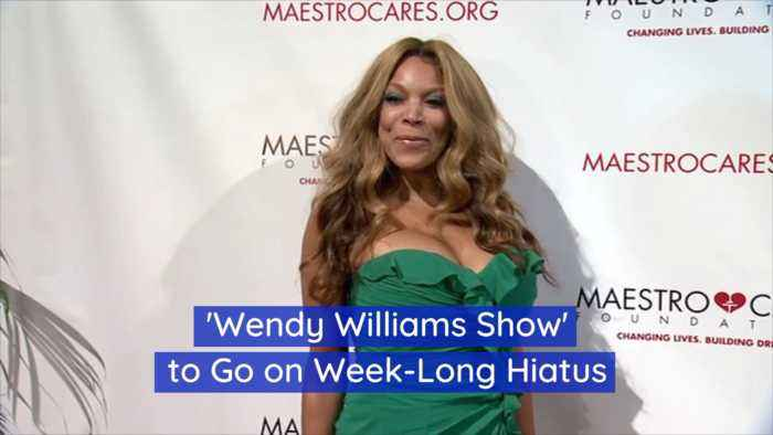 Wendy Williams Show Will Take A Break For A Week