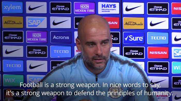 Pep Guardiola: Football is a strong weapon to defend the principles of humanity