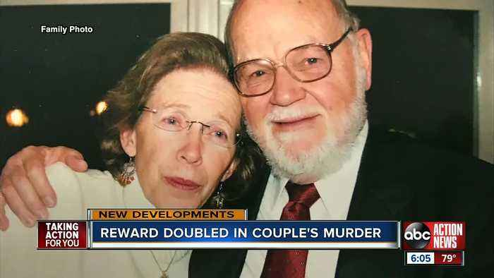 Reward money nearly doubled in case of Clearwater couple found shot to death