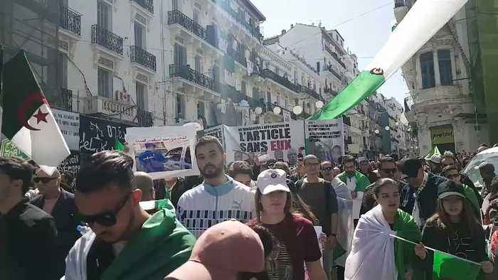 One Million March Through Algiers in Renewed Protests Against President