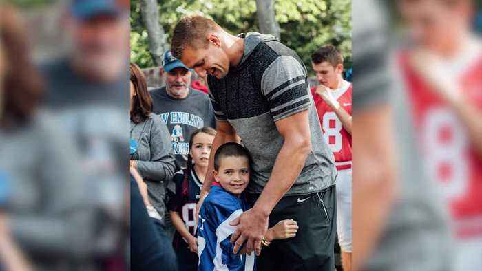 Make-a-Wish Family grateful for former Patriot Rob Gronkowski's kindness