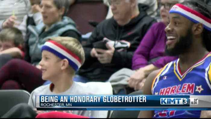 Being an honorary Globetrotter