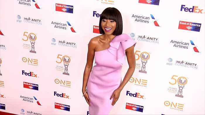 Gabrielle Dennis 50th NAACP Image Awards Non-Televised Dinner Red Carpet