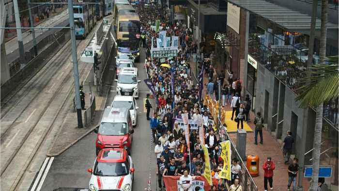 Hong Kong March Against Extradition Gets Thousands