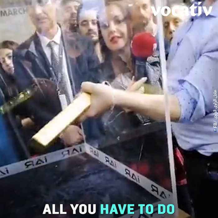 Turkish Competition: If You Can Lift This 25 Pound Gold Bar Out Of A Small Hole One Handed, You'll Win Gold!