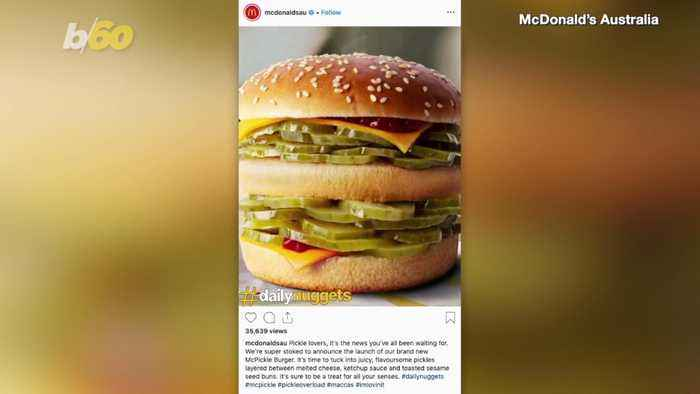 McDonald's Australia 'McPickle Burger' April Fools Joke Leaves Many In A Pickle!