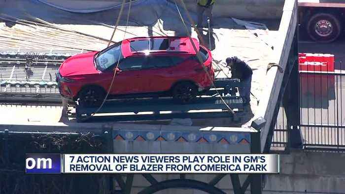 GM removes Mexican-made Chevy Blazer from Comerica Park following backlash