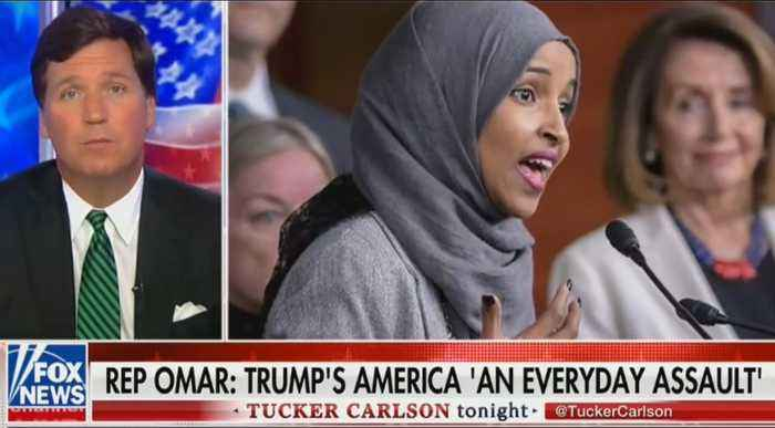 Tucker Carlson blasts Ilhan Omar for attacking America as 'hateful and racist'