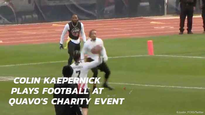 Colin Kaepernick Gets A Football Gig At A Charty Event