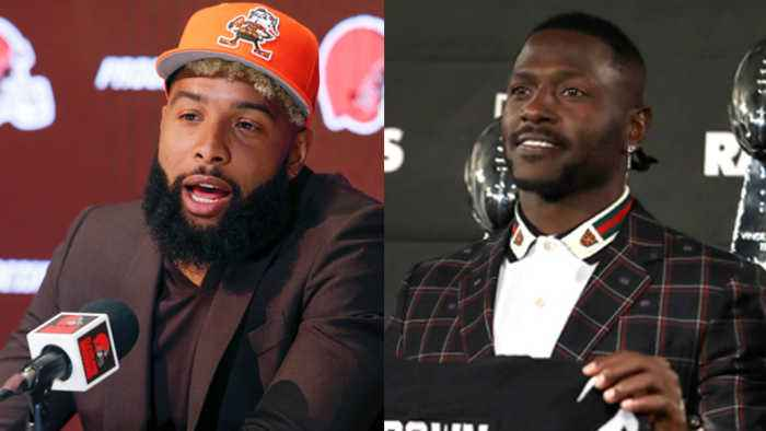 Oakland Raiders wide receiver Antonio Brown vs. Cleveland Browns wide receiver Odell Beckham Jr.: Which receiver was the bigger