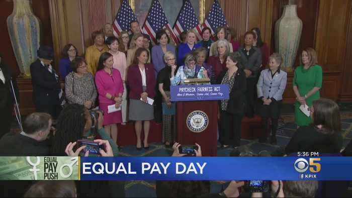 Dem. Congresswomen Discuss Gender Pay Gap On Equal Pay Day
