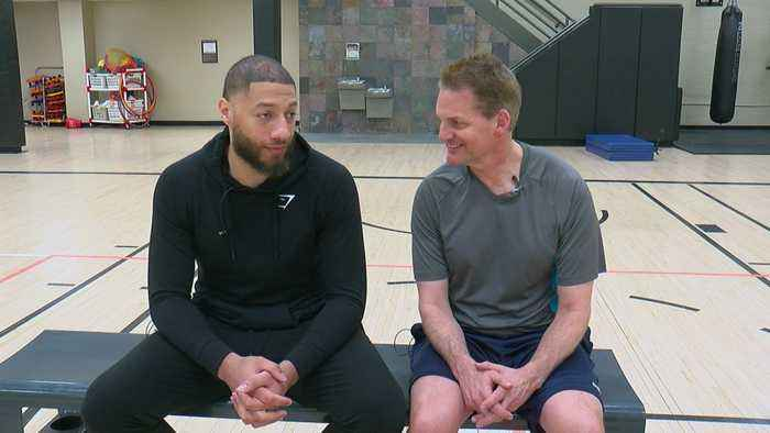 Mike Max Shoots Hoops With Royce White