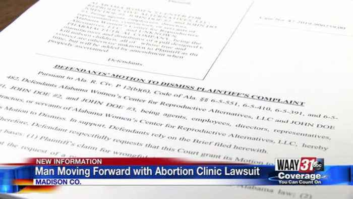 Man moving forward with abortion clinic lawsuit