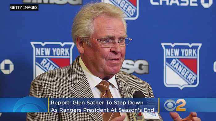 Report: Glen Sather To Step Down As Rangers President At Season's End