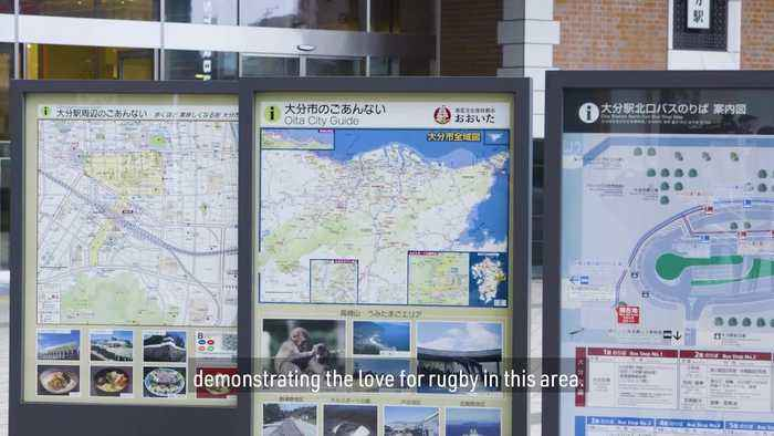 Oita, Japan   Where rugby meets hot springs