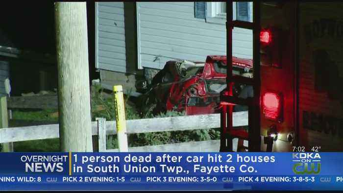 1 Dead After Car Hits 2 Homes In Fayette County